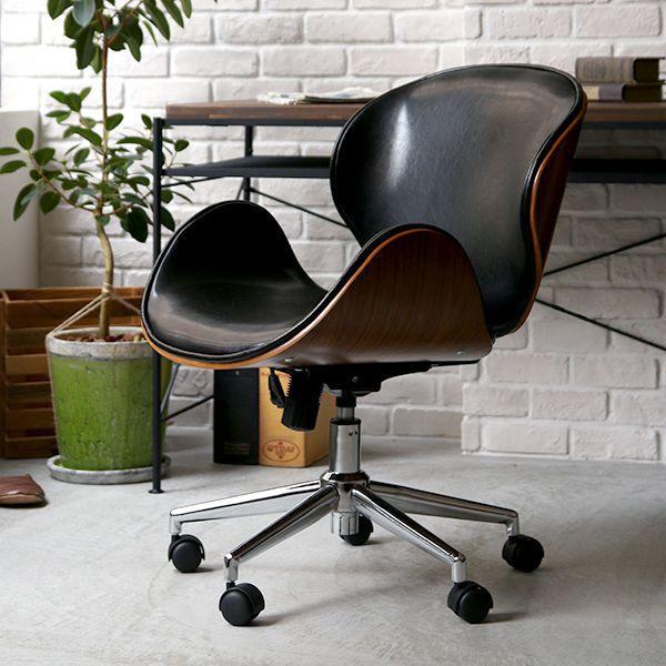 デスクチェア ヴィンテージ 西海岸 ブルックリン 北欧 モダン レザー 木製 おしゃれ おすすめ 椅子 自宅 オフィス キャスター ノースチェア KNOX 送料無料