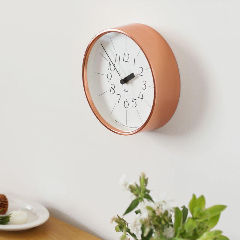 掛け時計 RIKI CLOCK 銅の時計 北欧 ナチュラル シンプル おしゃれ あす楽対応