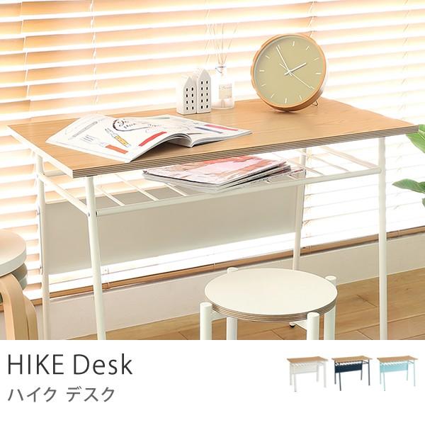 HIKE デスク パソコンデスク ワークデスク ホワイトオーク スチール 机 おしゃれ 送料無料