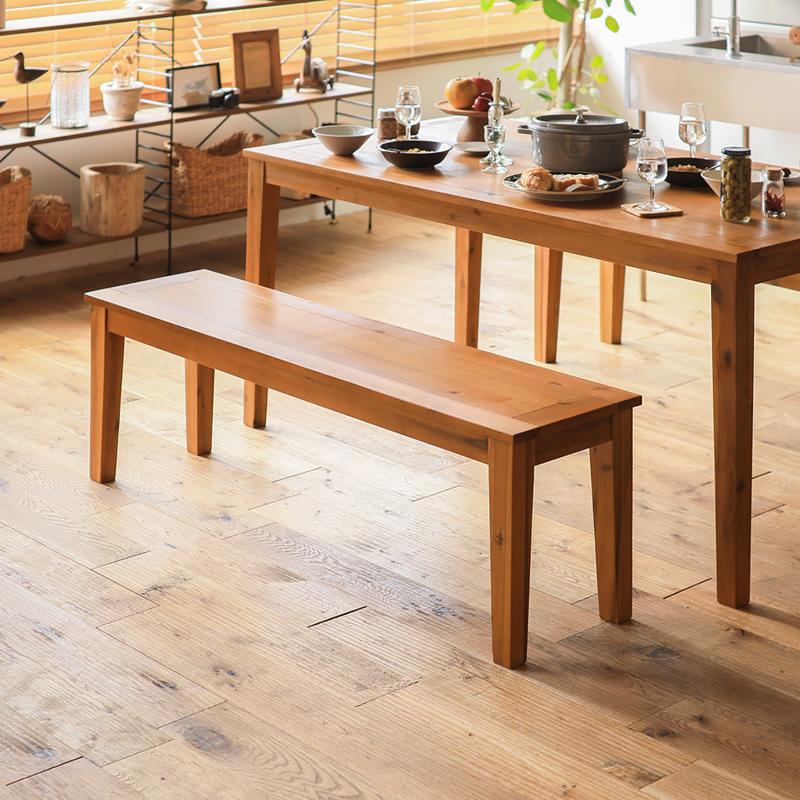 ダイニング ベンチ Gracia 幅164 北欧 ナチュラル 布地 木製 おしゃれ 送料無料 即日出荷可能