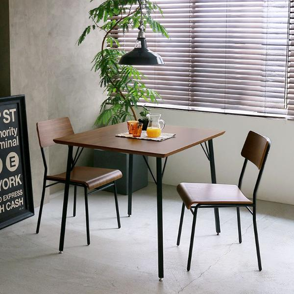 MONT ダイニングテーブル3点セット インダストリアル ヴィンテージ アイアン 木製 ブラウン おしゃれ 送料無料 【開梱・設置付き】
