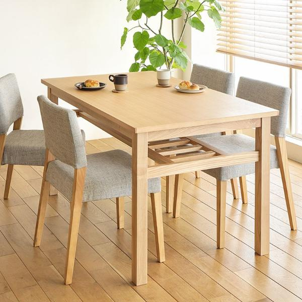 ダイニングテーブル5点セット Oulu 北欧 ナチュラル 木製 4人用 135 おしゃれ 送料無料 即日出荷可能