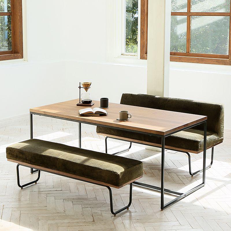 ダイニングテーブルテーブル 3点セット ヴィンテージ ブルックリン アイアン コーデュロイ 無垢 おしゃれ 160 WIRY 送料無料 【開梱・設置付き】
