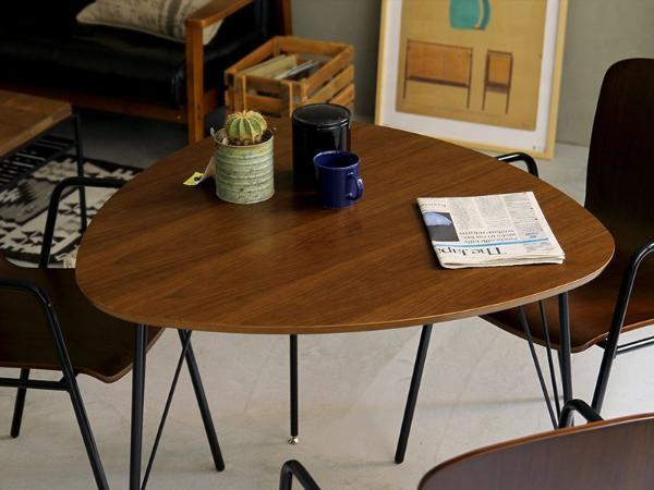 COLINA ダイニングテーブル 2人用 ブラウン 三角形 ヴィンテージ 西海岸 ブルックリン アイアン おしゃれ 送料無料