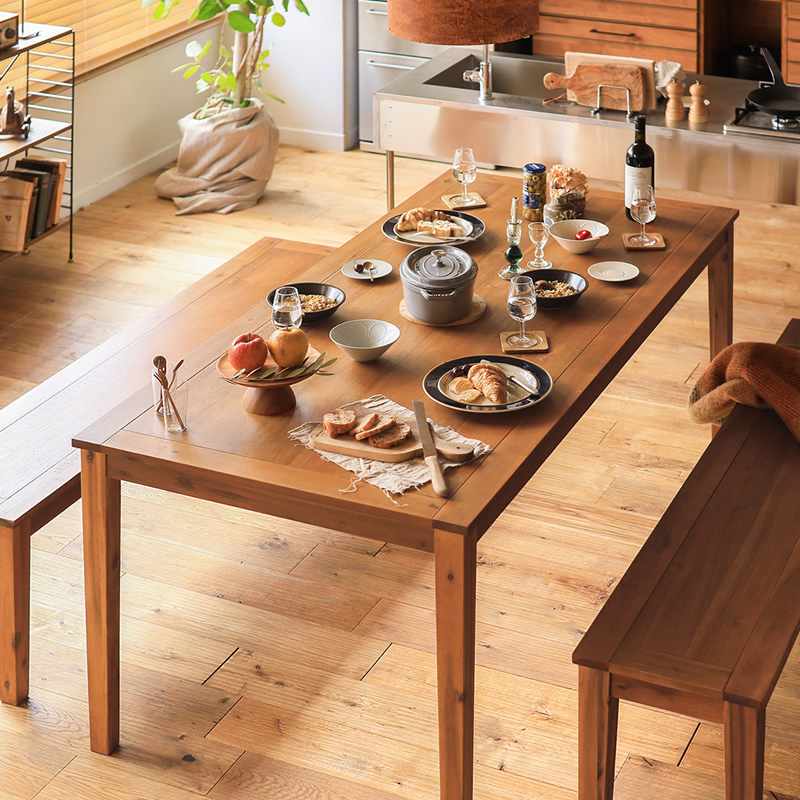ダイニングテーブル 6人掛け 180 西海岸 ヴィンテージ 北欧 木製 6人用 おしゃれ Gracia 送料無料 即日出荷可能 日時指定不可