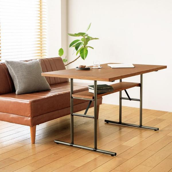 リビング ダイニングテーブル リビングダイニングテーブル HOEK インダストリアル ヴィンテージ 西海岸 アイアン 木製 低め 120 おしゃれ 送料無料