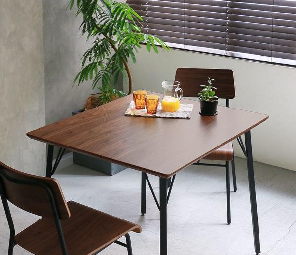 MONT 90 ダイニングテーブル インダストリアル ヴィンテージ アイアン ブラウン 木製 2人用 おしゃれ 送料無料