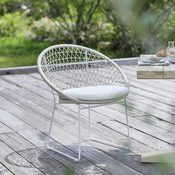 チェア ダイニング ガーデンチェア Woven+ チェア ガーデンソファー ガーデンチェア エクステリア ホワイト 白 Woven+ BAY dining chair 送料無料 即日出荷可能, 伊東市:98199e9c --- officewill.xsrv.jp