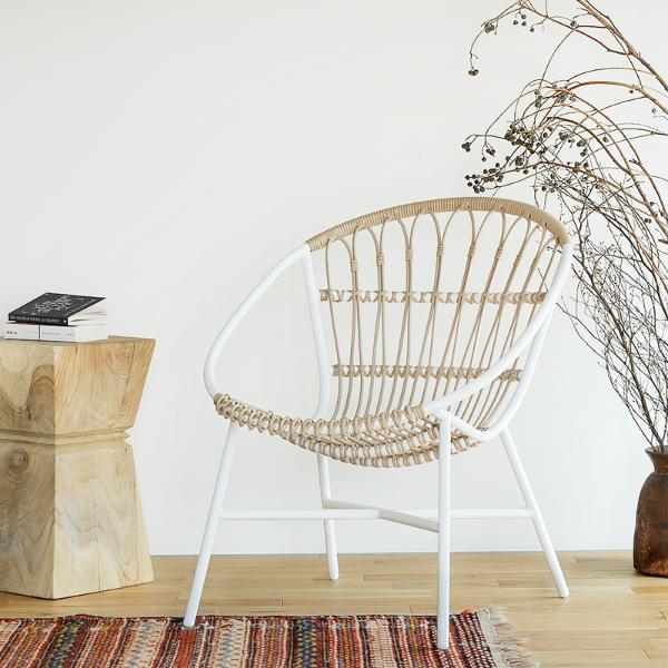 屋外 チェア いす イス 椅子 アウトドア キャンプ テラス レジャー 引き出物 ガーデンチェア woven ウーブン ガーデンソファー エクステリア ホワイト 送料無料 白 即日出荷可能 LUSO Woven+ おしゃれ 超激得SALE ラウンジチェア chair