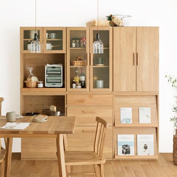 食器棚 天板150 北欧 シンプル ナチュラル 西海岸 木製 日本製 Rekit