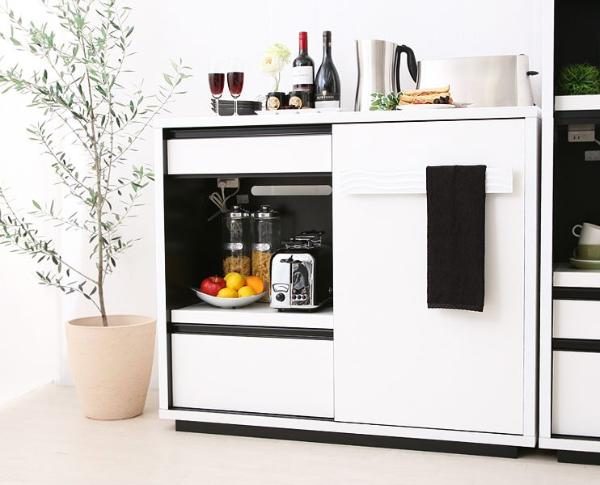食器棚 SULE 120cm ミドルボード モダン 北欧 ホワイト 白 完成品 おしゃれ 送料無料 【開梱・設置付き】