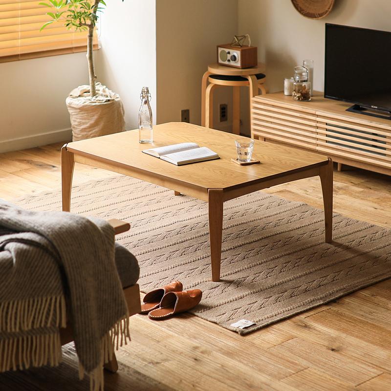 こたつ テーブル 長方形 105 EDDIE 北欧 ヴィンテージ 木製 ウォールナット オーク おしゃれ 送料無料 即日出荷可能