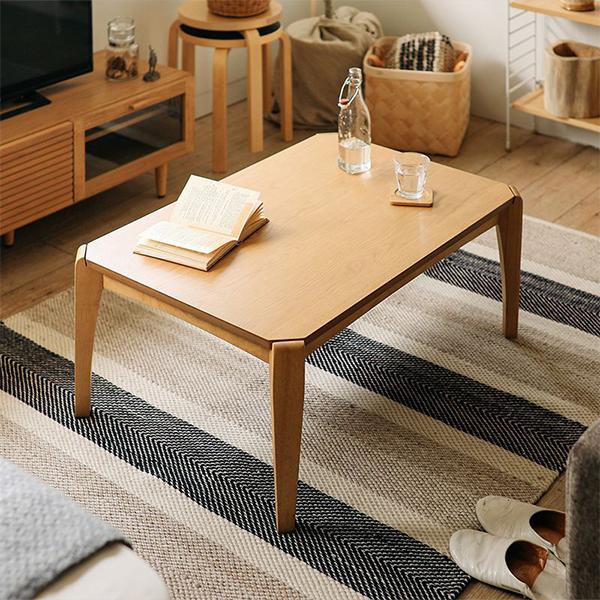 こたつ テーブル 長方形 90 EDDIE 北欧 ヴィンテージ 木製 オーク ウォールナット おしゃれ 送料無料 即日出荷可能