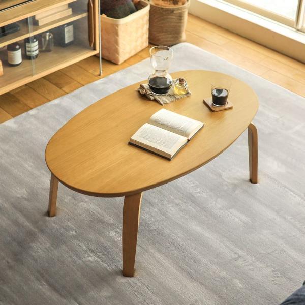 こたつ テーブル Fika 楕円形 オーバル 105cm 北欧 木製 おしゃれ 送料無料 即日出荷可能