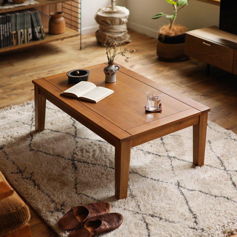 こたつ こたつテーブル センターテーブル Gracia 幅105 北欧 ヴィンテージ ブラウン アカシア 木製 おしゃれ 即日出荷可能 送料無料