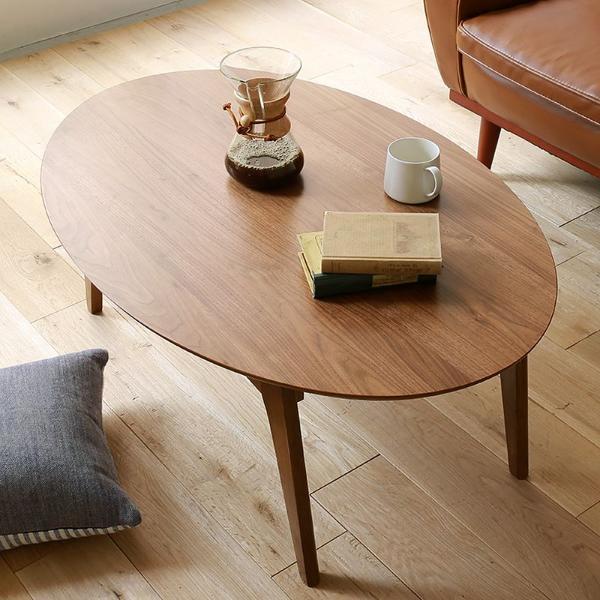 こたつ テーブル 楕円 105 北欧 ヴィンテージ 西海岸 木製 ウォールナット KENNY-OVAL おしゃれ 送料無料 【即日出荷対応】