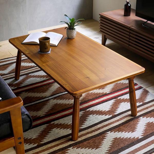 こたつ テーブル Laura 長方形 105 北欧 ヴィンテージ 西海岸 ブルックリン 木製 おしゃれ 送料無料 即日出荷可能