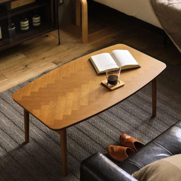 こたつ テーブル 折れ脚 折りたたみ ヘリンボーン 長方形 90 北欧 ブラウン 木製 おしゃ コンパクト LUKE 送料無料 即日出荷可能