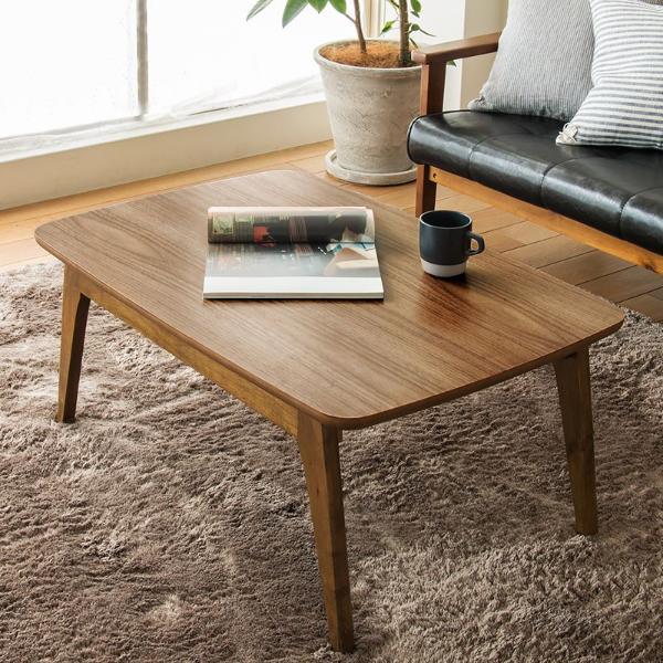 こたつ テーブル KENNY 長方形 90 北欧 ヴィンテージ 西海岸 木製 ウォールナット おしゃれ 一人用 一人暮らし 送料無料 【即日出荷対応】