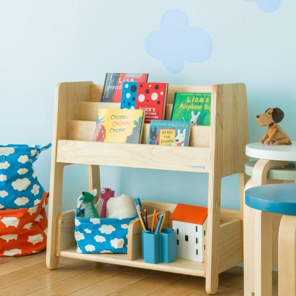 本棚 絵本 収納 子供 子供部屋 ラック 北欧 ナチュラル 木製 norsta ブックラック キッズ収納 おしゃれ おすすめ