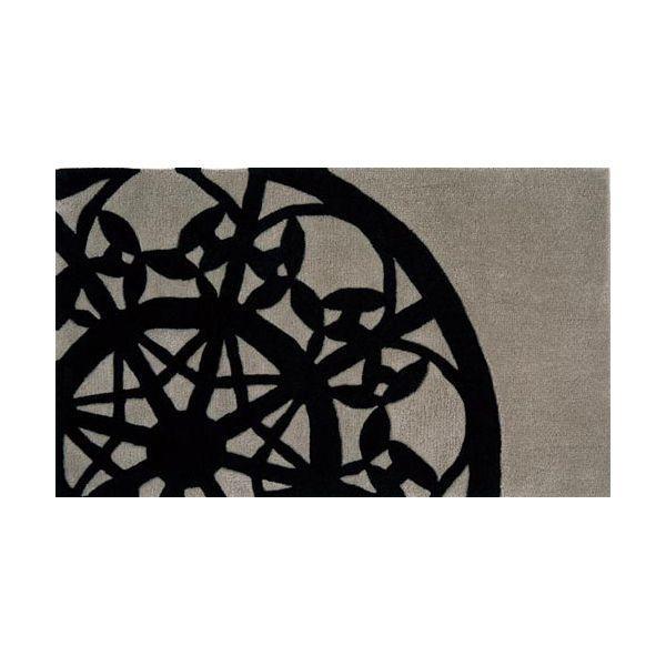 玄関マット キッチンマット DANTE-MINI 70cm×120cm モダン グレー ブラック おしゃれ