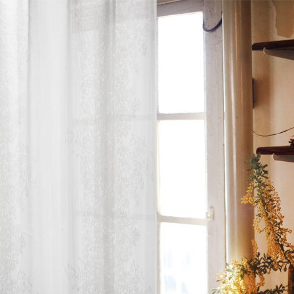 オーダー レースカーテン Nohara Silhouette (幅200/400cm×丈205cm-260cm) オーダーカーテン レース おしゃれ