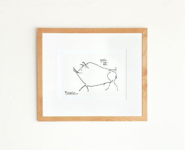ポスター ピカソ 豚 コション 北欧 インテリア ナチュラル シンプル Pablo Picasso Petit cochon おしゃれ おすすめ あす楽対応