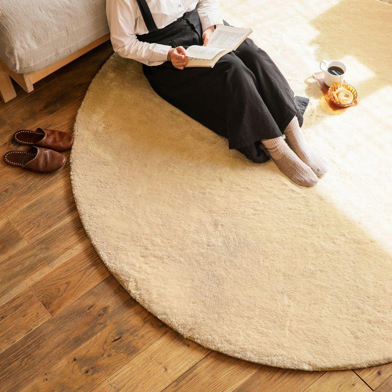 ラグマット 円形 140 厚手 洗える 北欧 ナチュラル シャギー 3畳 4畳 おしゃれ かわいい 長方形 ふわふわ 床暖房 colette