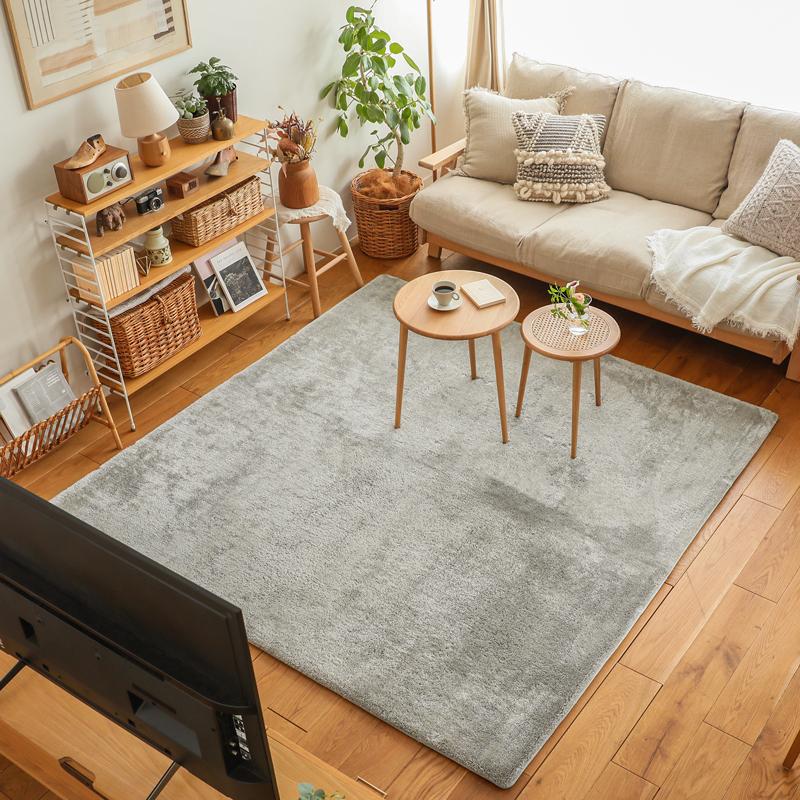 長方形 ふわふわ かわいい 洗える 厚手 床暖房 ナチュラル ラグマット おしゃれ colette 200×250 シャギー 北欧