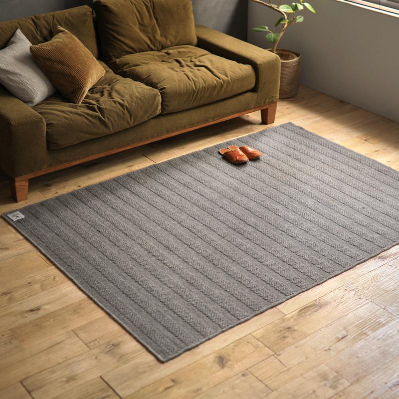 ラグマット カーペット 国産 FISHERMAN'S COURT Aタイプ 200×250 四角形 北欧 ナチュラル 長方形 おしゃれ おすすめ 床暖房 送料無料 変更キャンセル不可
