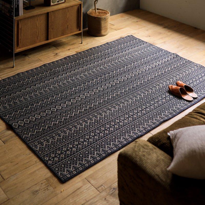 ラグマット カーペット 国産 FISHERMAN'S COURT Cタイプ 200×200 四角形 北欧 ナチュラル 正方形 おしゃれ おすすめ 床暖房 送料無料 変更キャンセル不可