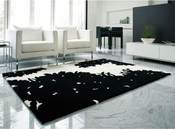 ラグマット SLODS 140×200 モダン ホワイト ブラック 長方形 おしゃれ おすすめ 送料無料