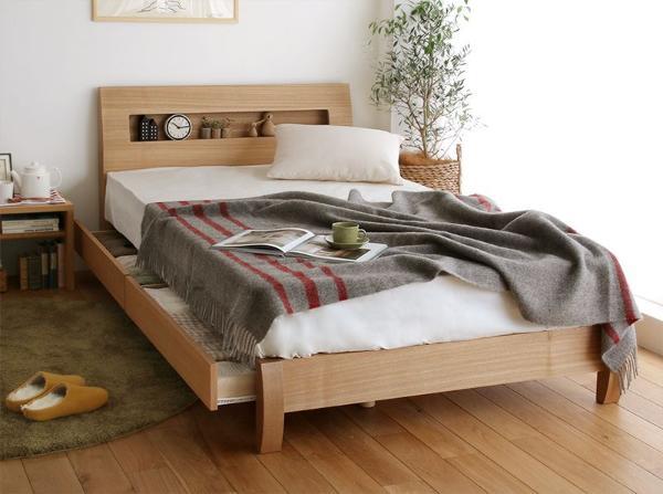 ベッド 収納ベッド FENNEL ダブル ナノテックプレミアム ポケットコイルマットレス+ピロートップ付き 送料無料