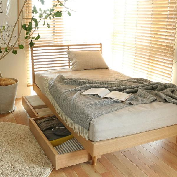 ベッド 収納付きベッド NOANA スタンダードタイプ シングル ゴールドプレミアム ポケットコイル マットレス付き 送料無料