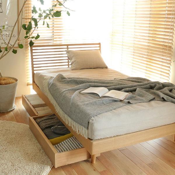 ベッド 収納付きベッド NOANA スタンダードタイプ セミダブル ナノテックプレミアム ポケットコイル マットレス付き 送料無料
