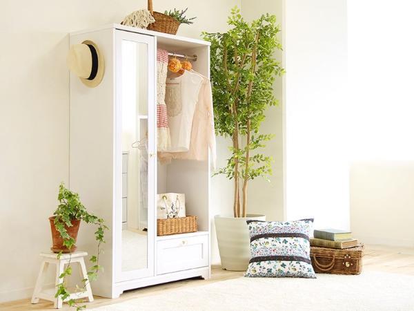 Olga ハンガーラック 幅80cm 高さ150cm ホワイト 白 木製 ポールハンガー 送料無料(送料込) 即日出荷可能
