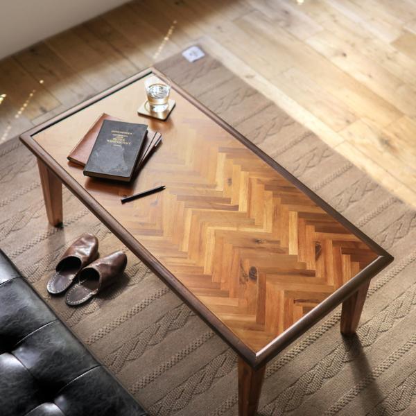 テーブル コーヒーテーブル Fiona 110cm 北欧 ヴィンテージ ブラウン アカシア 木製 おしゃれ 送料無料 即日出荷可能
