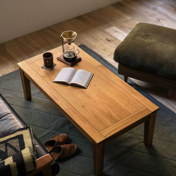 テーブル センターテーブル Gracia 幅 110cm 北欧 ヴィンテージ ブラウン アカシア 木製 おしゃれ 送料無料 即日出荷可能