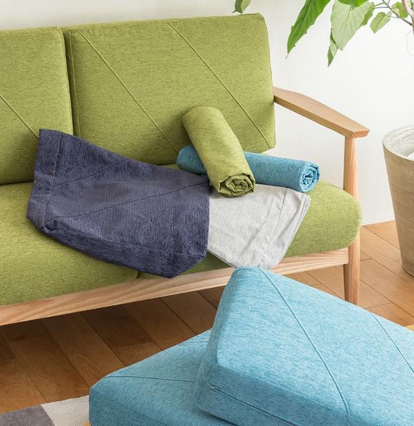 lull sofa専用 クッションカバー(2人掛けソファ ソファー用) 北欧 カバーリング ファブリック 布地 おしゃれ 送料無料