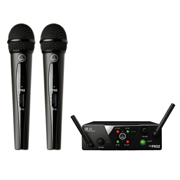AKG WMS40 PRO MINI2 VOCAL SET DUAL(2チャンネル・モデル)【P10】