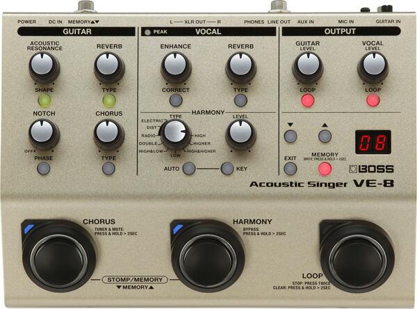 弾き語りギタリストのためのオールインワン ソリューション 今季も再入荷 別倉庫からの配送 BOSS VE-8 Acoustic Singer P5