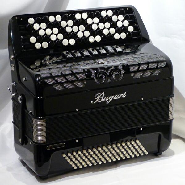 BUGARI 320CH【黒】クロマチック・アコーディオン