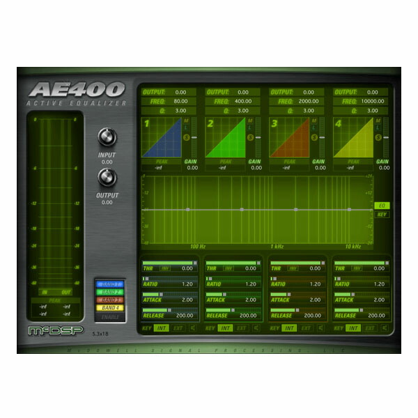 McDSP AE 400 Active EQ HD v6【iLok別売】