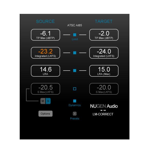 NUGEN Audio LM-Correct 2【オンライン納品専用】※代金引換はご利用頂けません。