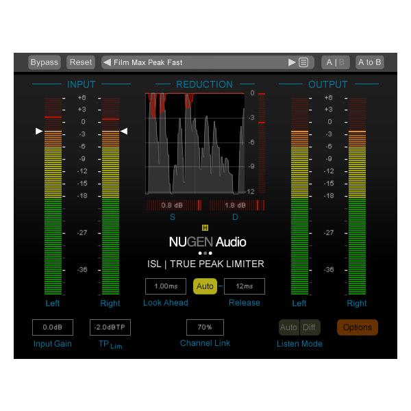 NUGEN Audio ISL 2 | True Peak Limiter【オンライン納品専用】※代金引換はご利用頂けません。