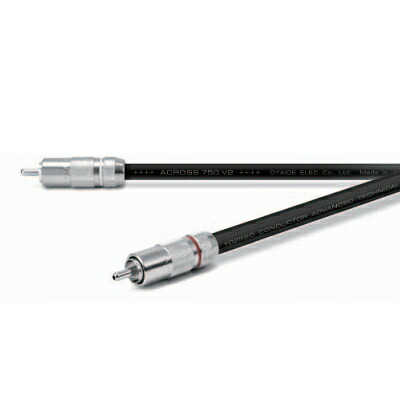 Oyaide ACROSS750 RR V2 【1.3m】【ペア】(RCAインターコネクトケーブル)【p5】