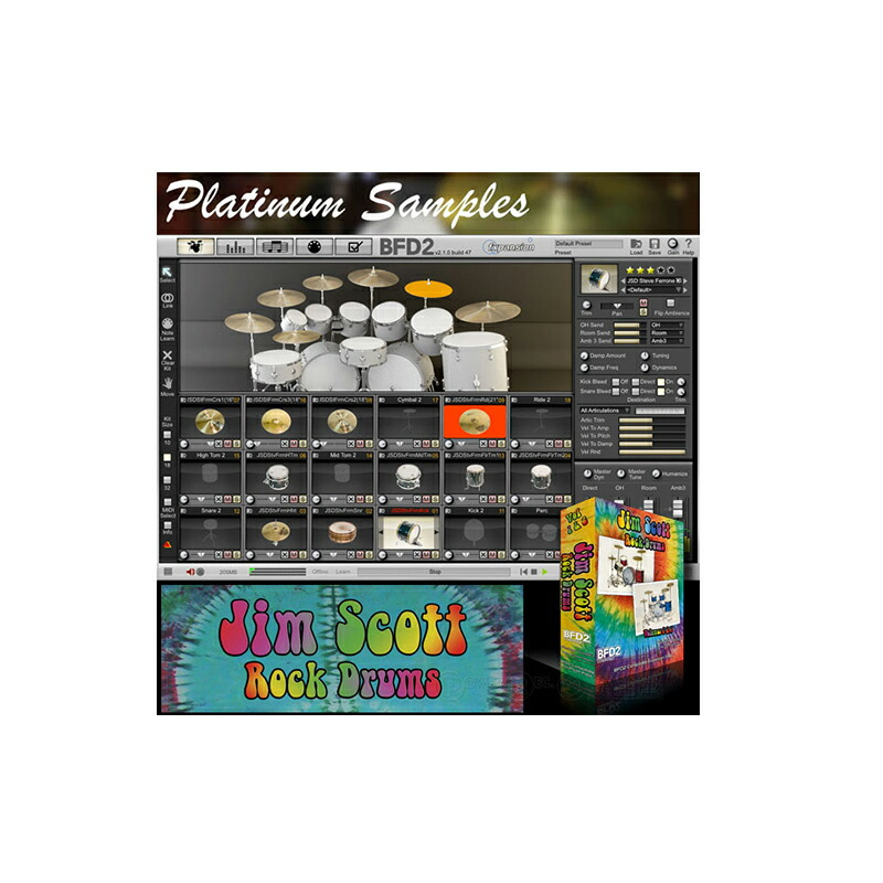 Platinum Samples Jim Scott Rock Drums Vol 1&2 for BFD【fxpansion BFD2専用拡張音源】【予約商品・納期約1ヶ月】