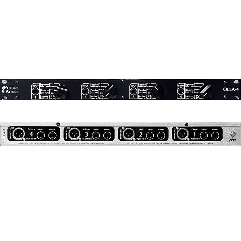 Pueblo Audio OLLA 4 – Quad Hybrid Direct Injection Rack Unit【受注後、約4~6週間の納期となります】