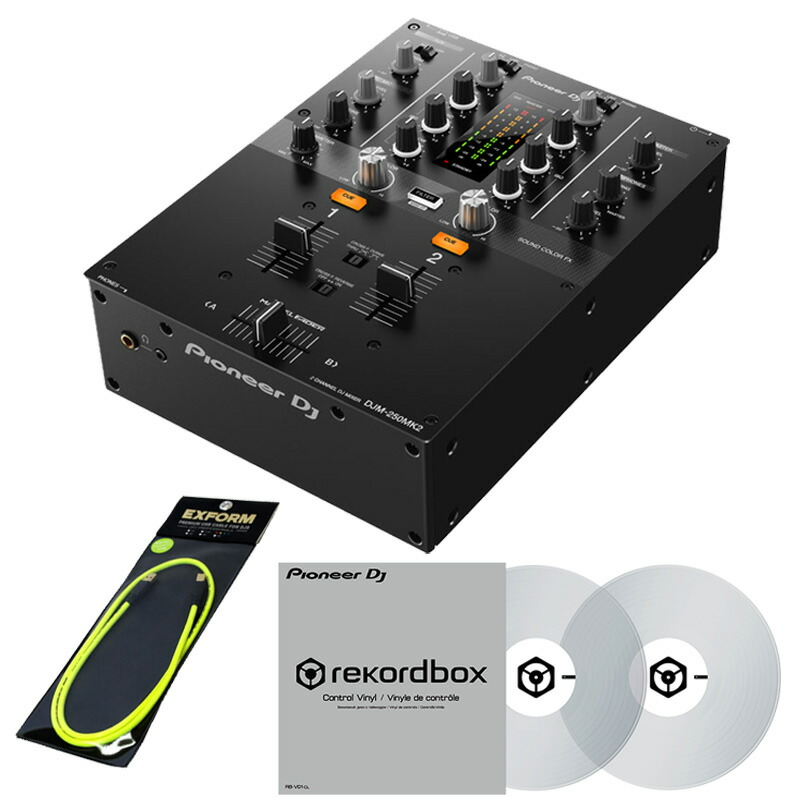Pioneer DJ DJM-250MK2 DJM-250MK2 DVS + + コントロールヴァイナルRB-VD1-CL DVS SET【高品質のEXFORM製 国産USBケーブル1mをプレゼント!】, セレクトショップ Solid:d4ce2d61 --- officewill.xsrv.jp