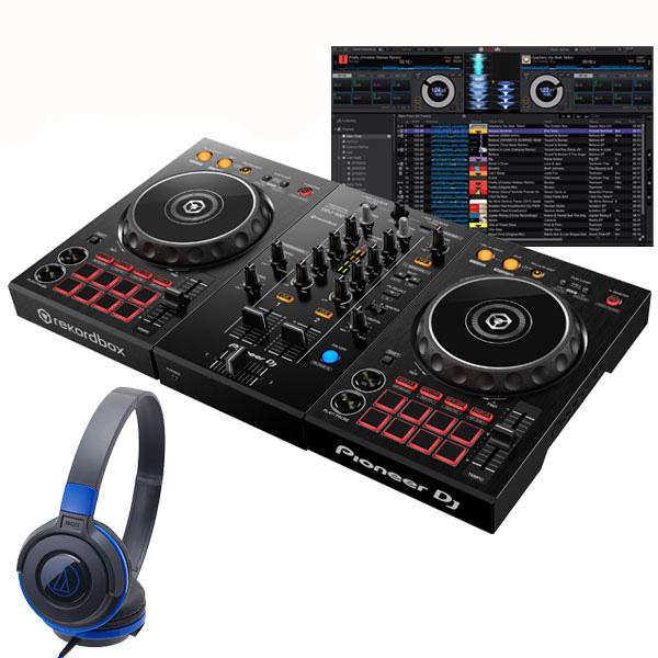 パニオニア ディージェイ ディージェー Pioneer DJ DDJ-400 ATH-S100BBL 初心者ヘッドホンセット【セットアップチュートリアル機能搭載】【あす楽対応】【土・日・祝 発送対応】